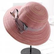 Fashion Casual Straw Floppy Foldable Rolled Up Beach Sunscreen Hat