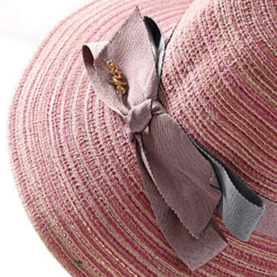 Fashion Casual Straw Floppy Foldable Rolled Up Beach Sunscreen Hat stylesimo.com