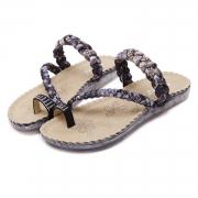 Fashion Bohemia Summer Beach Thong Flat Sandals With Crystal