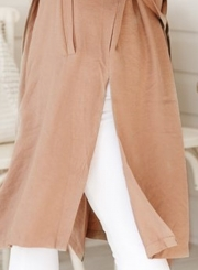 Khaki Autumn Thin Coat Windbreaker